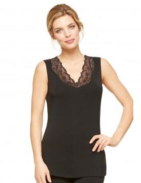 Блуза домашняя без рукавов черный