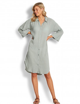 Рубашка длинная Seafolly шалфей