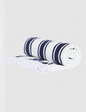 Полотенце- лежанка Seafolly синий/ полоска